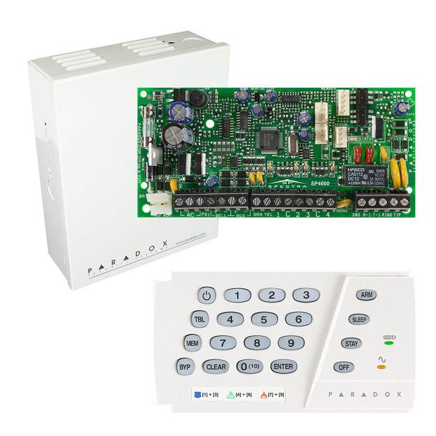 پنل SP4000 به همراه کی پد K636 پارادوکس و جعبه فلزی