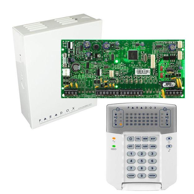 پنل SP5500 به همراه کی پد K32LED پارادوکس و جعبه فلزی