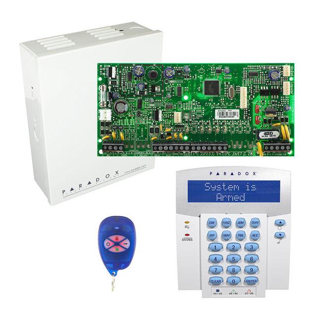 پنل SP5500 به همراه کی پد K32LX و ریموت REM1 پارادوکس و جعبه فلزی