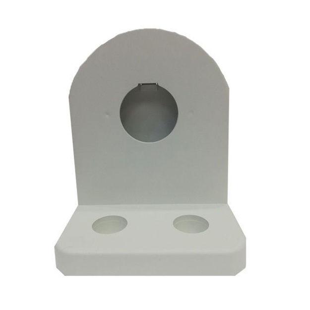 پایه دیواری دام 4 اینچ سفید