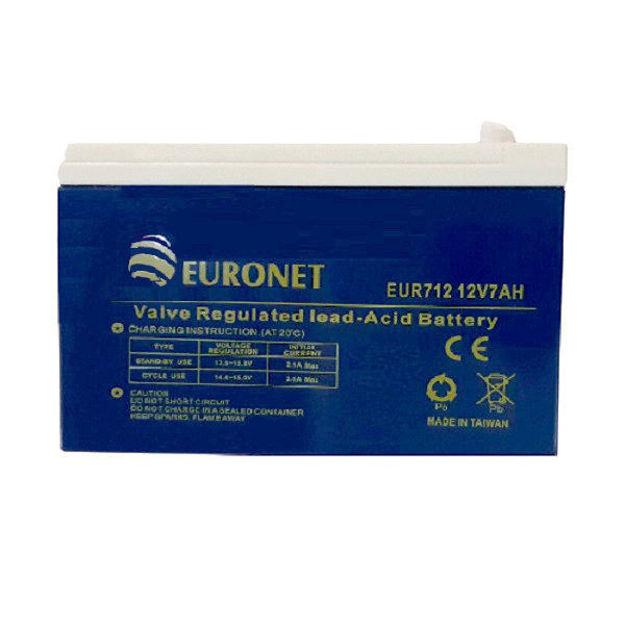 باطری 12 ولت 7 آمپر یورونت مدل EUR712