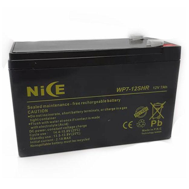 باتری 12 ولت 7 آمپر نایس مدل WP7-12SHR